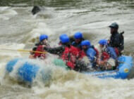 Whitewater rafting at Summerland North Carolina.