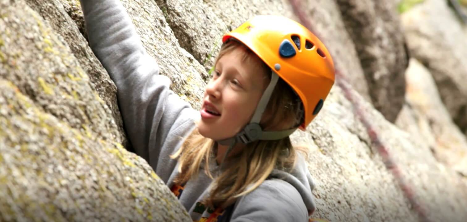 Rock Climbing at Summer Therapy Camp